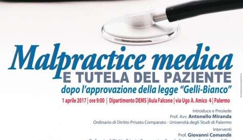 """Convegno sulla """"Malpractice medica e la tutela del paziente"""""""